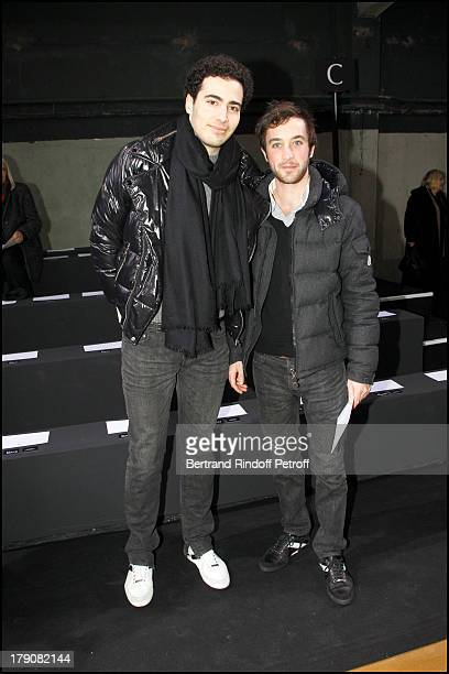 Jean Victor Meyers grandson of Liliane Bettencourt at The Dior Fashion Show Introducing The Menswear Autumn Winter 2011 / 2012 At Tennis Club De...