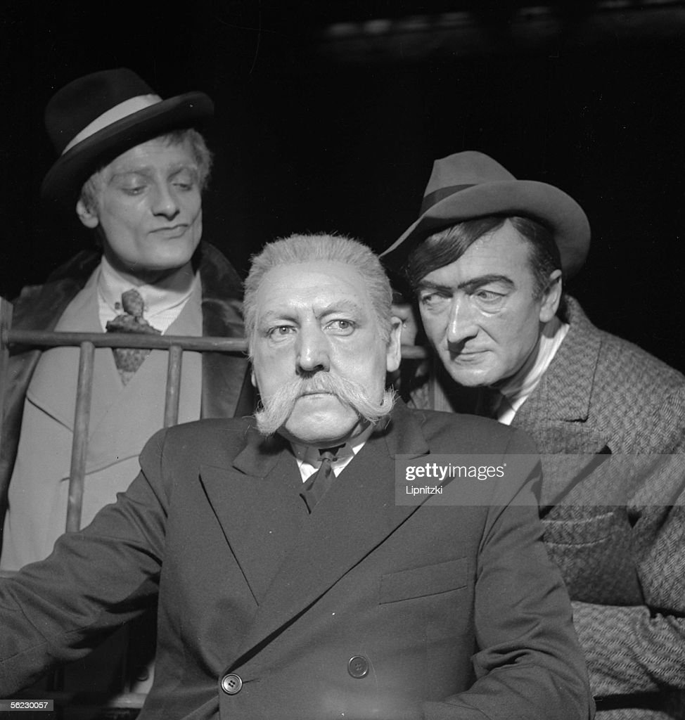 Jean Vilar, Georges Wilson and Charles Denner in : News Photo