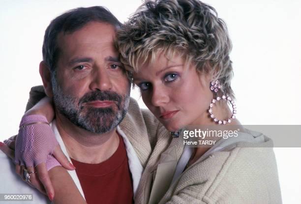 Jean Yanne et Mimi Coutelier en avril 1985 à Paris France