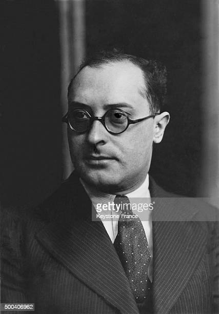 Jean Zay National Education minister in Leon Blum French government on June 05 1936 in Paris France