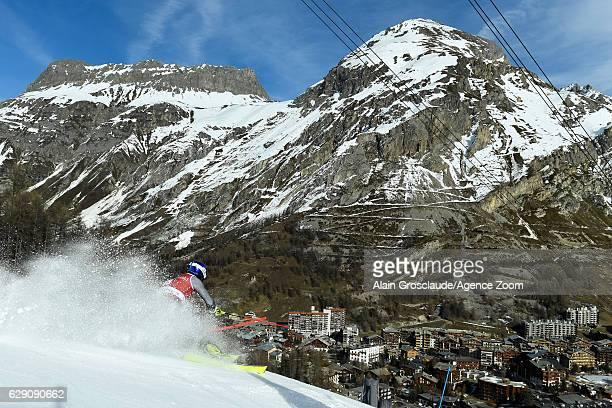 Jeanbaptiste Grange of France competes during the Audi FIS Alpine Ski World Cup Men's Slalom on December 11 2016 in Vald'Isere France