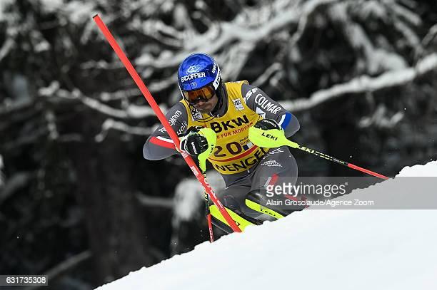 Jeanbaptiste Grange of France competes during the Audi FIS Alpine Ski World Cup Men's Slalom on January 15 2017 in Wengen Switzerland