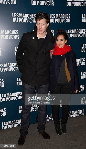 JeanBaptiste Maunier and Joyce Jonathan attend the Paris premiere of 'The Ides of March' at Cinema UGC Normandie on October 18 2011 in Paris France