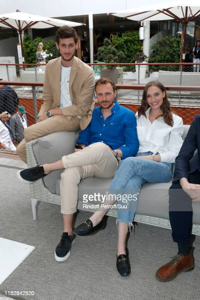 JeanBaptiste Maunier Roby Schinasi and Maja Simonsen attend the 2019 French Tennis Open Day Six at Roland Garros on May 31 2019 in Paris France