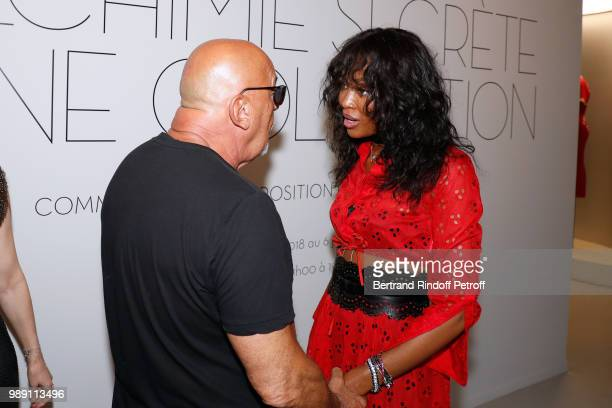 JeanBaptiste Mondino and Naomi Campbell attend L'Alchimie secrete d'une collection The Secret Alchemy of a Collection Exhibition Preview at Galerie...