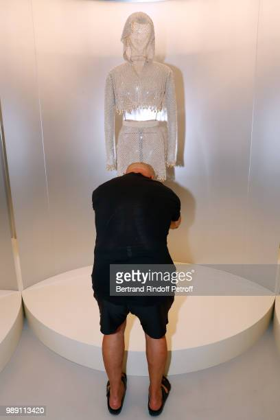 JeanBaptiste Mondino attends L'Alchimie secrete d'une collection The Secret Alchemy of a Collection Exhibition Preview at Galerie Azzedine Alaia on...