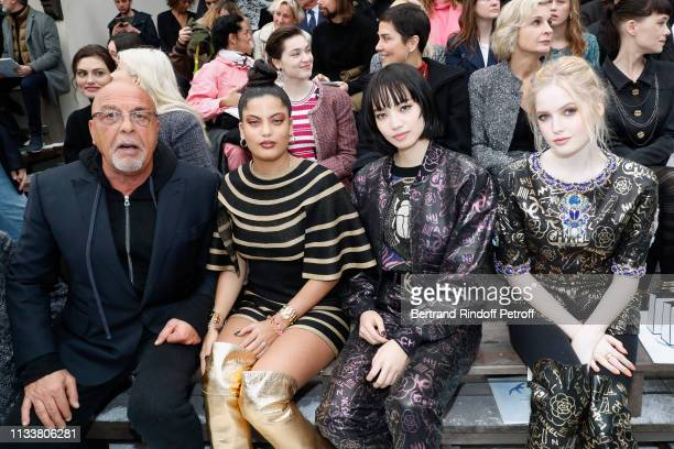 Jean-Baptiste Mondino, Naomi Diaz, Nana Komatsu and Ellie Bamber attend the Chanel show as part of the Paris Fashion Week Womenswear Fall/Winter...
