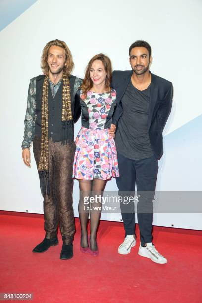 JeanBaptiste Sagory Marion Huguenin and Joakim Latzko attend Closing Ceremony during 19th Festival of TV Fiction at La Rochelle on September 16 2017...