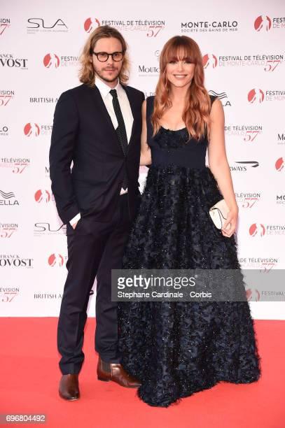 Jean-Baptiste Shelmerdine and Joy Esther attend the 57th Monte Carlo TV Festival Opening Ceremony on June 16, 2017 in Monte-Carlo, Monaco.