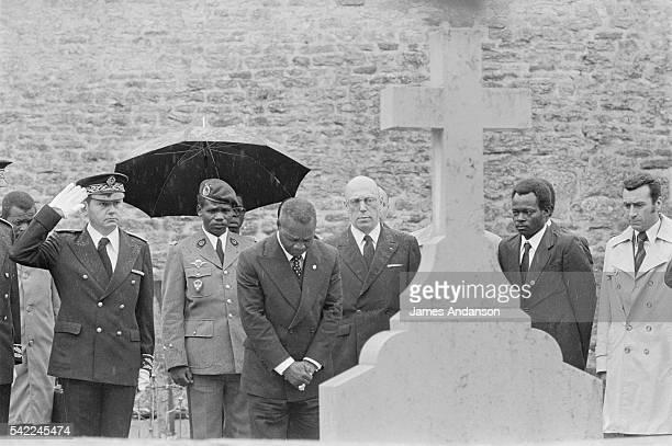 JeanBedel Bokassa Beside Grave of Charles de Gaulle