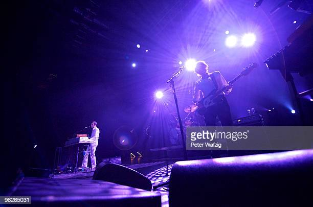 JeanBenoit Dunckel and Nicolas Godin of Air performs on stage at the Palladium on January 29 2010 in Cologne Germany