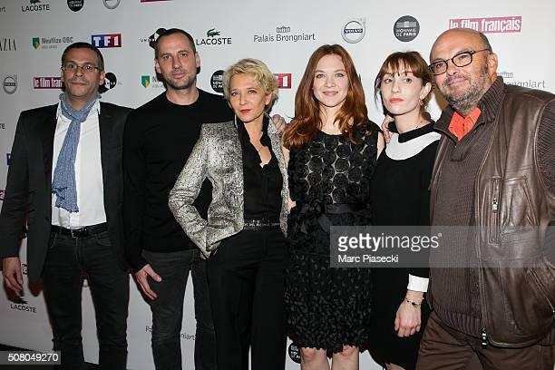 JeanBenoit Gillig Fred Testot Micky Sebastian Odile Vuillemin Lolita Chammah and ClaudeMichel Rome attend the 'Trophees du Film Francais' 23rd...
