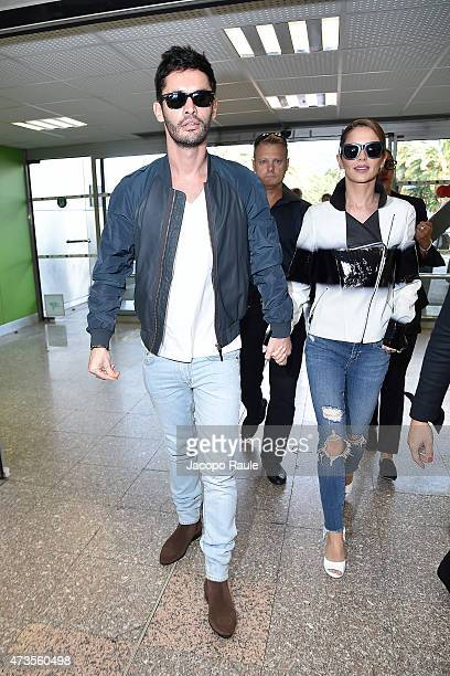 JeanBernard FernandezVersini and Cheryl FernandezVersini are seen at Nice Airport during the 68th annual Cannes Film Festival on May 16 2015 in...