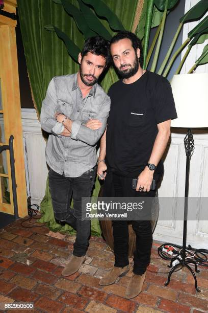 JeanBernard FernandezVersini and Eli Azran attend the Intimissimi Grand Opening Party on October 18 2017 in New York United States