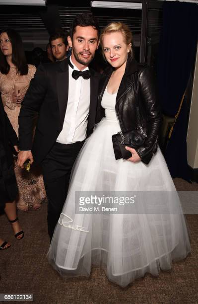 JeanBernard FernandezVersini and Elisabeth Moss attend The Square screening afterparty at the Versini GREY GOOSE popup at Five Seas Hotel on May 20...