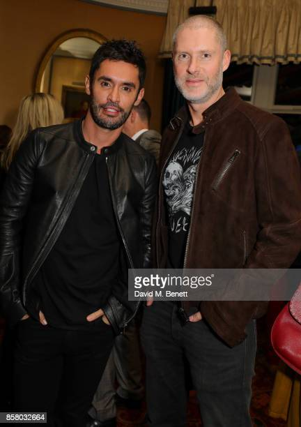 JeanBernard FernandezVersini and Guest attend the launch of Bazaar Art published in association with Bentley Mark's Club on October 5 2017 in London...