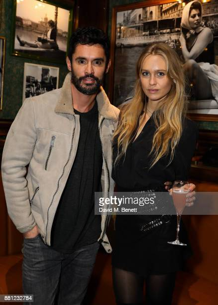 JeanBernard FernandezVersini and Katharina Damm attend a VIP exclusive preview of new Knightsbridge Italian restaurant Harry's Dolce Vita on November...