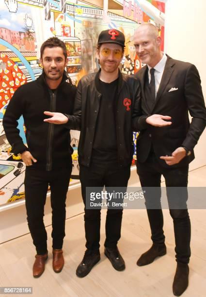 JeanBernard FernandezVersini artist Philip Colbert and Jean David Malat attend a private view of 'Philip Colbert New Paintings' at The Saatchi...