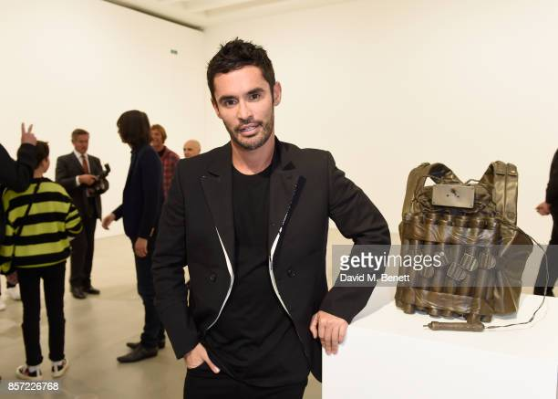 JeanBernard FernandezVersini attends the private view of 'The Disasters of Everyday Life' by Jake Dinos Chapman at Blain Southern on October 3 2017...