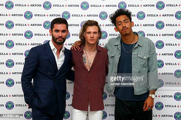 JeanBernard FernandezVersini Jordan Stephens and Dougie Poynter attend The Championships Wimbledon with Stella Artois who have launched immersive...