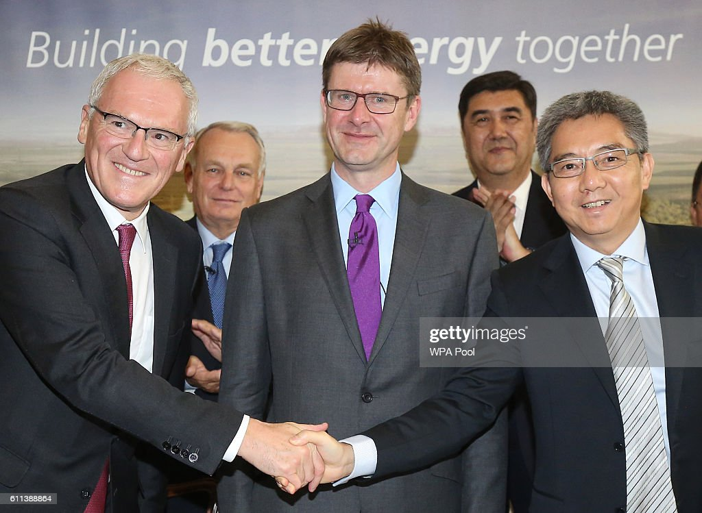 Signing Ceremony For Hinkley Point Nuclear Power Station