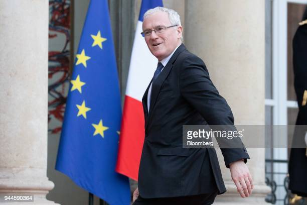 JeanBernard Levy chief executive officer of Electricite de France SA arrives at the Elysee Palace ahead of a dinner with Mohammed bin Salman Saudi...