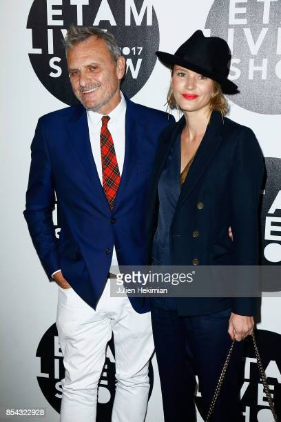 JeanCharles de Castelbajac and guest attend the Etam show as part of the Paris Fashion Week Womenswear Spring/Summer 2018 on September 26 2017 in...