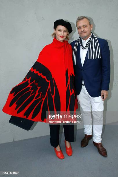 JeanCharles de Castelbajac and his companion attend the Christian Dior show as part of the Paris Fashion Week Womenswear Spring/Summer 2018 on...