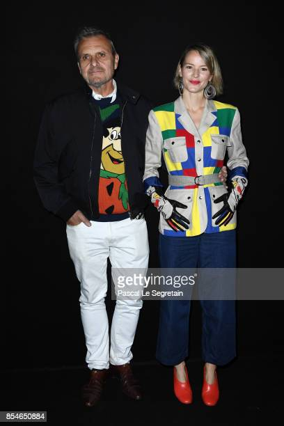 JeanCharles de Castelbajac and Pauline de Drouas attend the Lanvin show as part of the Paris Fashion Week Womenswear Spring/Summer 2018 on September...