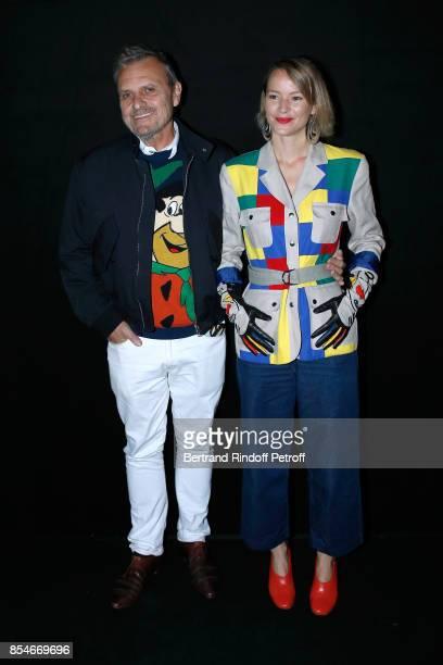 JeanCharles de Castelbajac and Pauline de Drouas attend the Lanvin show as part of the Paris Fashion Week Womenswear Spring/Summer 2018 on September...