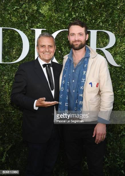 JeanCharles de Castelbajac and son Louis Marie de Castelbajac attend 'Christian Dior couturier du reve' Exhibition Launch celebrating 70 years of...