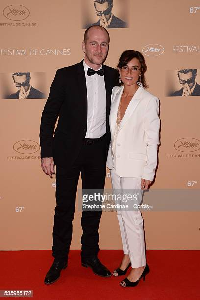 JeanCharles Sabattier and Nathalie Iannetta attends the Opening ceremony dinner of the 67th Cannes Film Festival