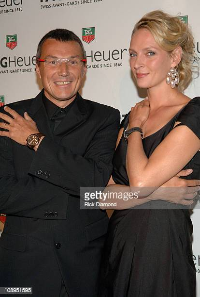 Jean-Christophe Babin and Uma Thurman during Tag Heuer Party to Celebrate Women and Unsem - Arrivals - September 12, 2006 at The Royalton in New York...