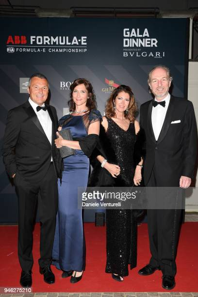 JeanChristophe Babin guest Alessandra Repini and Arturo Artom attend FIA Formula E Gala Dinner at Villa Miani on April 14 2018 in Rome Italy