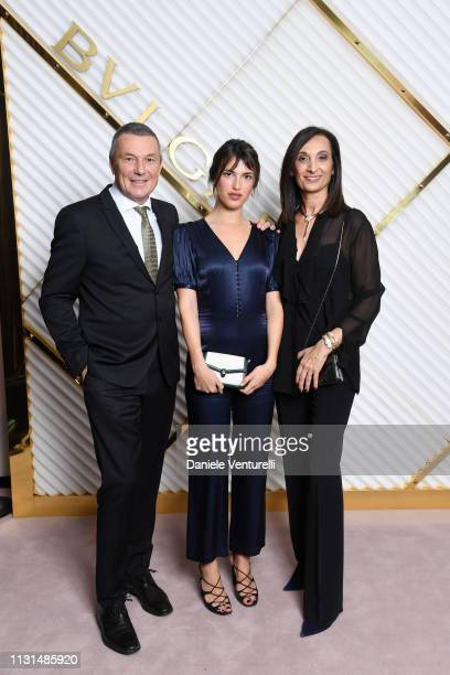JeanChristophe Babin Jeanne Damas and Mireia Lopez Montoya attend BVLGARI Dinner Party Milan Fashion Week FW19 on February 22 2019 in Milan Italy
