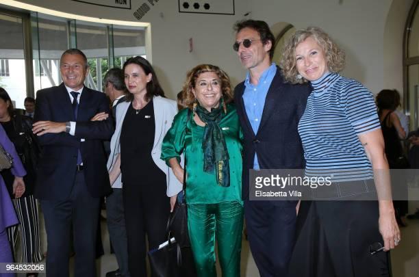 JeanChristophe Babin Stella Giannetti Matilde Bernabei Alessandro Preziosi and Giovanna Melandri attend Preview And Opening Maxxi Bvlgari Prize at...