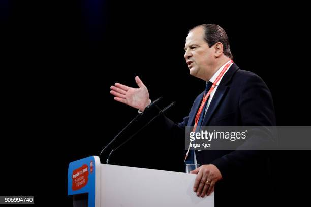 JeanChristophe Cambadelis PESVice President and Leader of PS France in the course of the PES party congress on December 01 2017 in Lisbon Portugal