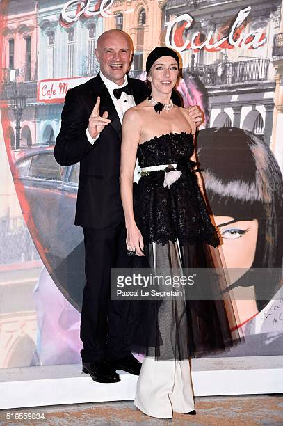JeanChristophe Maillot and a guest attend The 62nd Rose Ball To Benefit The Princess Grace Foundation at Sporting MonteCarlo on March 19 2016 in...