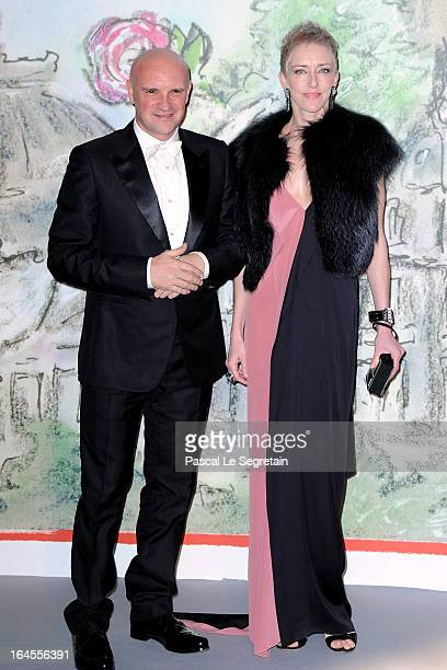 JeanChristophe Maillot and guest attend the 'Bal De La Rose Du Rocher' in aid of the Fondation Princess Grace on the 150th Anniversary of the SBM at...