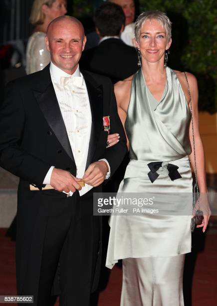 JeanChristophe Maillot and wife Valentine arriving for the official dinner for Prince Albert II of Monaco and Charlene Wittstock at the Monte Carlo...