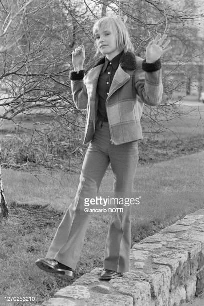 Jean-Christophe Maillot lors du tournage du film 'Le petit poucet' réalisé par Michel Boisrond en 1972, France