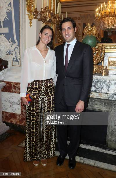 JeanChristophe Napoleon and Olympia Von ArcoZinneberg are photographed for Paris Match at the cocktail for the new jewelry collections Gloria and...