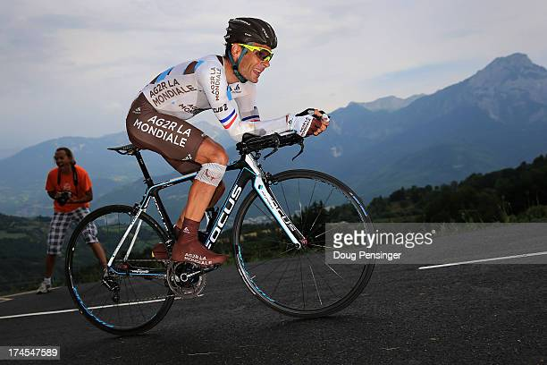 Jean-Christophe Peraud of France riding for AG2R-La Mondiale competes during stage seventeen of the 2013 Tour de France, a 32KM Individual Time Trial...
