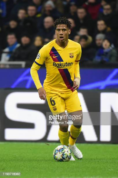 Jean-Clair Todibo of FC Barcelona in action during the UEFA Champions League group F match between Inter and FC Barcelona at Giuseppe Meazza Stadium...