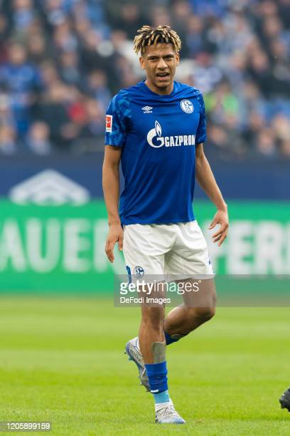 Jean-Claire Todibo of FC Schalke 04 looks on during the Bundesliga match between FC Schalke 04 and TSG 1899 Hoffenheim at Veltins-Arena on March 7,...