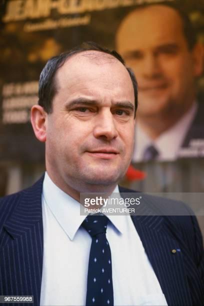 Jean-Claude Abrioux lors des éléctions législatives à Aulnay-sous-Bois le 18 octobre 1983, France.