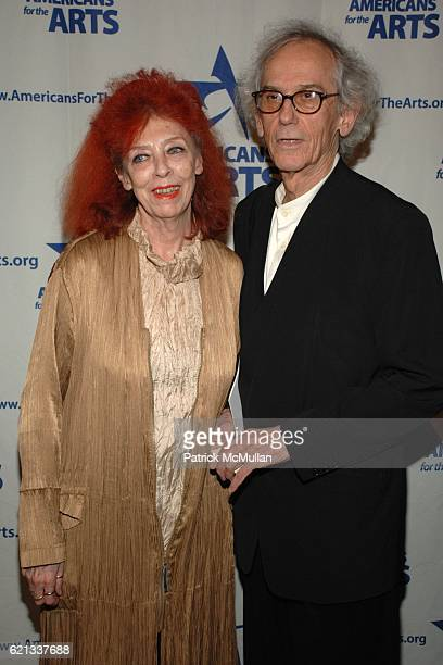 Jean-Claude and Christo attend In Memoriam: Jeanne-Claude Denat de Guillebon 1935 ñ 2009 at Steven Kasher Gallery on February 15, 2008 in New York...