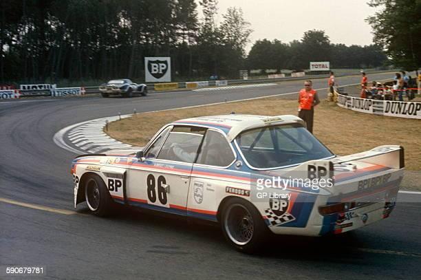 86 JeanClaude Aubriet Depnic BMW 30 CSL 35 at Arnage Corner Le Mans 16 June 1974