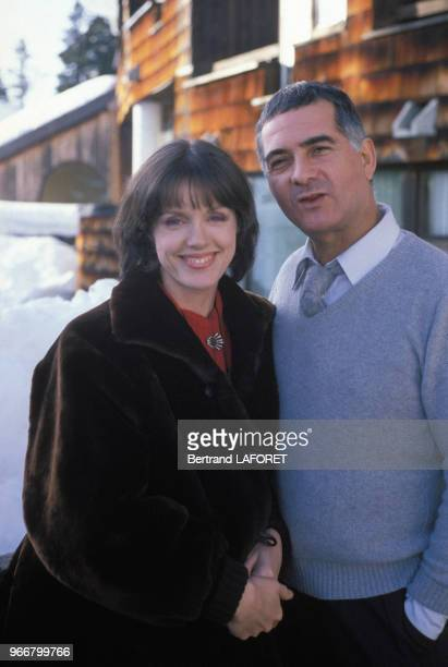 Jean-Claude Brialy et Anny Duperey au Festival d'Avoriaz le 17 janvier 1983, France.