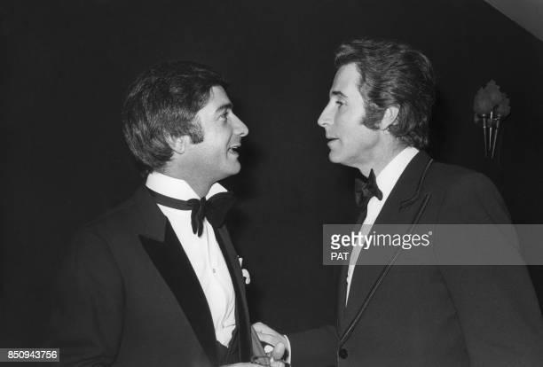JeanClaude Brialy et Jacques Chazot lors de la Nuit du cinéma le 24 novembre 1972 à Paris France